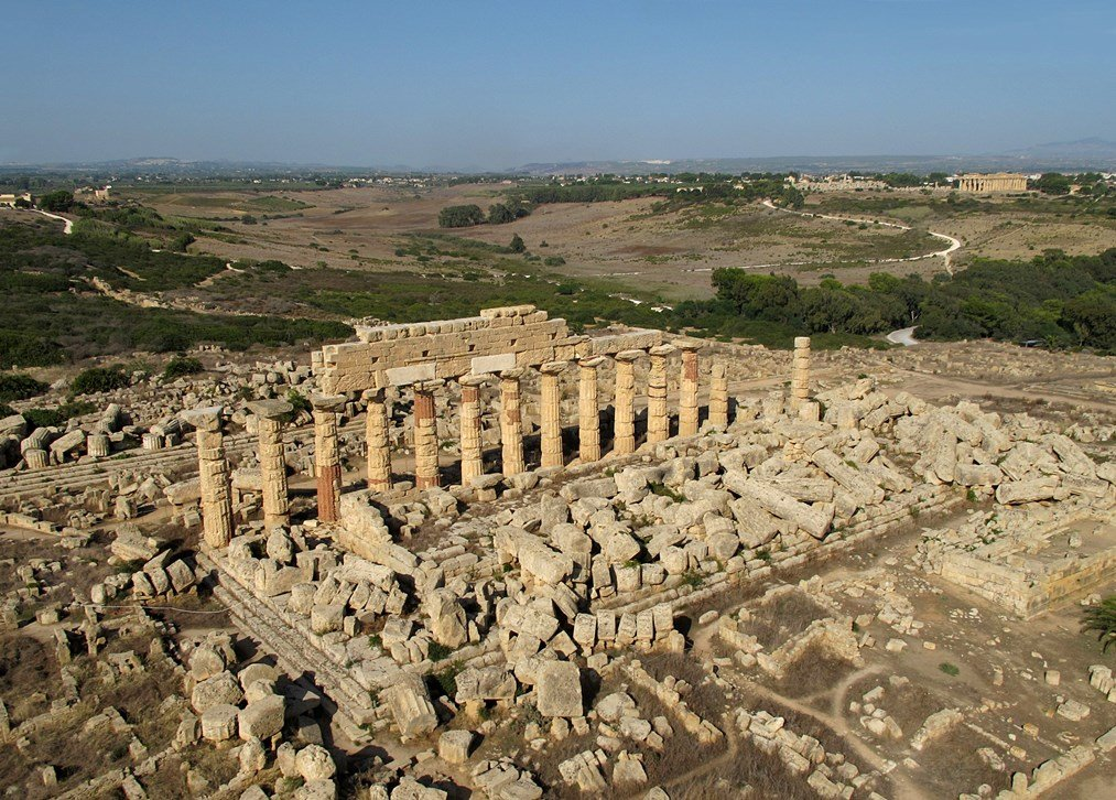 Selinunte_Temple_C_aerial_view